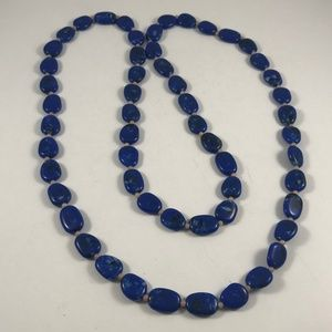 Vintage Faux Lapis Necklace, Vintage Jewelry